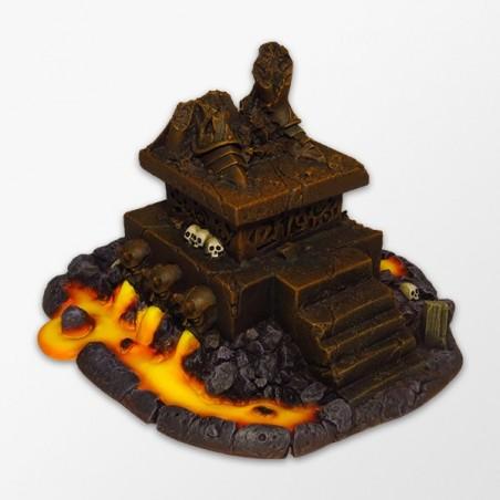 Dark statue base