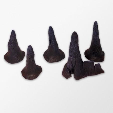Lot of 5 stalagmites