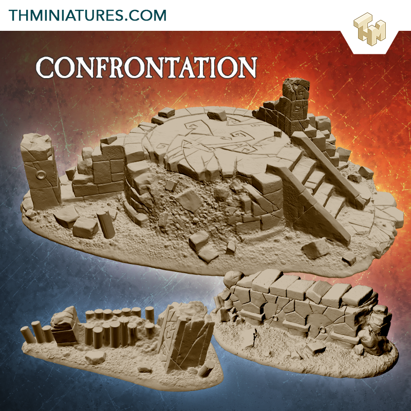 3D Printable Confrontation Scenery