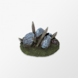 Piles and rocks