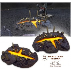 Small lava trench
