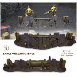 Large volcanic fence