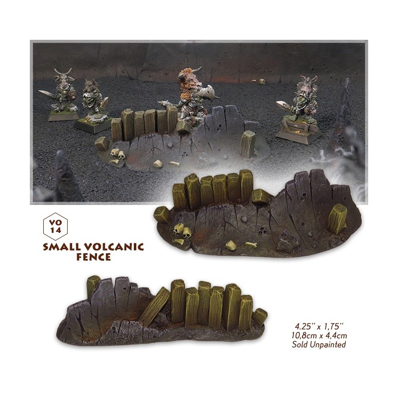 Small volcanic fence
